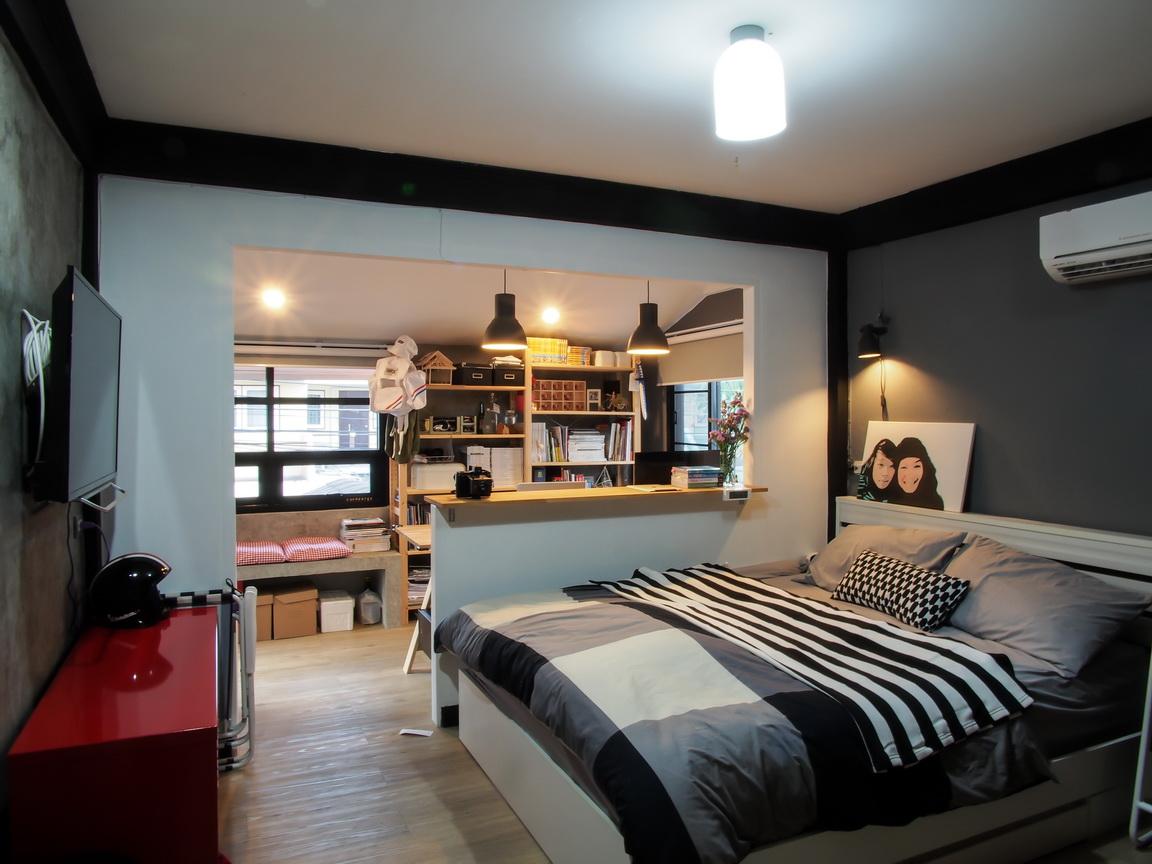 หลังจากอยู่แบบนั้นมาได้ซักพัก ก็เริ่มจะเก็บเงินได้นิดหน่อย เลยคิดจะทำ  ห้องนอนให้เป็นห้องนอนในแบบที่ผมอยากทำ แต่ ...