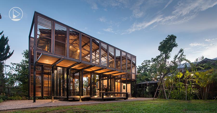 Pasang คาเฟ่แห่งความลับ ที่ซ่อนสถาปัตยกรรมเบื้องหลังบานเกล็ดไม้ - Design  Makes A Better Life.